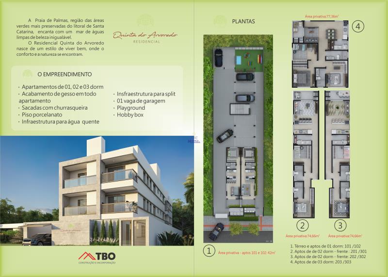Apartamento Código 472 a Venda  no bairro PALMAS na cidade de Governador Celso Ramos