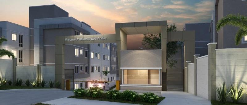Apartamento 2 Quartos no Santa Cândida  * PLANO MINHA CASA MINHA VIDA;  * ENTRADA:  PARCELA EM ATÉ 60X OU ATÉ A ENTREGA DO IMÓVEL;  * DATA PREVISTA de entrega final de 2019;  * CONDIÇÕES FACILITADAS de pagamento;  * APARTAMENTO de 02 dormitórios com 40m2 de área privativa + GIARDINO   * 01 VAGA de garagem;  * O móveis nas imagens são ilustrativos e  não fazem parte do valor de venda do imóvel.  Condomínio fechado com apartamentos de 2 dormitórios no Santa Cândida, com vaga de garagem coberta e área de lazer para sua família se divertir sem sair de casa.  Mais que um apartamento, o Cordilheira dos Andes oferece: lazer completo equipado, bicicletas compartilhadas, sistema de segurança, tomada USB, energia fotovoltaica, laminado nos quartos e muito mais.  More no bairro Santa Cândida, uma região com fácil acesso a área central de Curitiba, que oferece completa infraestrutura comercial para atender sua família no dia a dia.  Próximo ao Terminal Santa Cândida, Hospital Municipal, Faculdade Dr. Leocadio José Correia, Hipermercado Condor Santa Cândida,  Correios, Academia , Teatro e muito mais.  O CONDOMÍNIO OFERECE: * PLAYGROUND; * BICICLETARIO; * QUADRA; * SALAO DE JOGOS; * ESPAÇO KIDS; * GUARITA; ENTRE EM CONTATO CONOSCO E AGENDE SUA VISITA AO DECORADO- 413090-9600  CRECI - 5061-J
