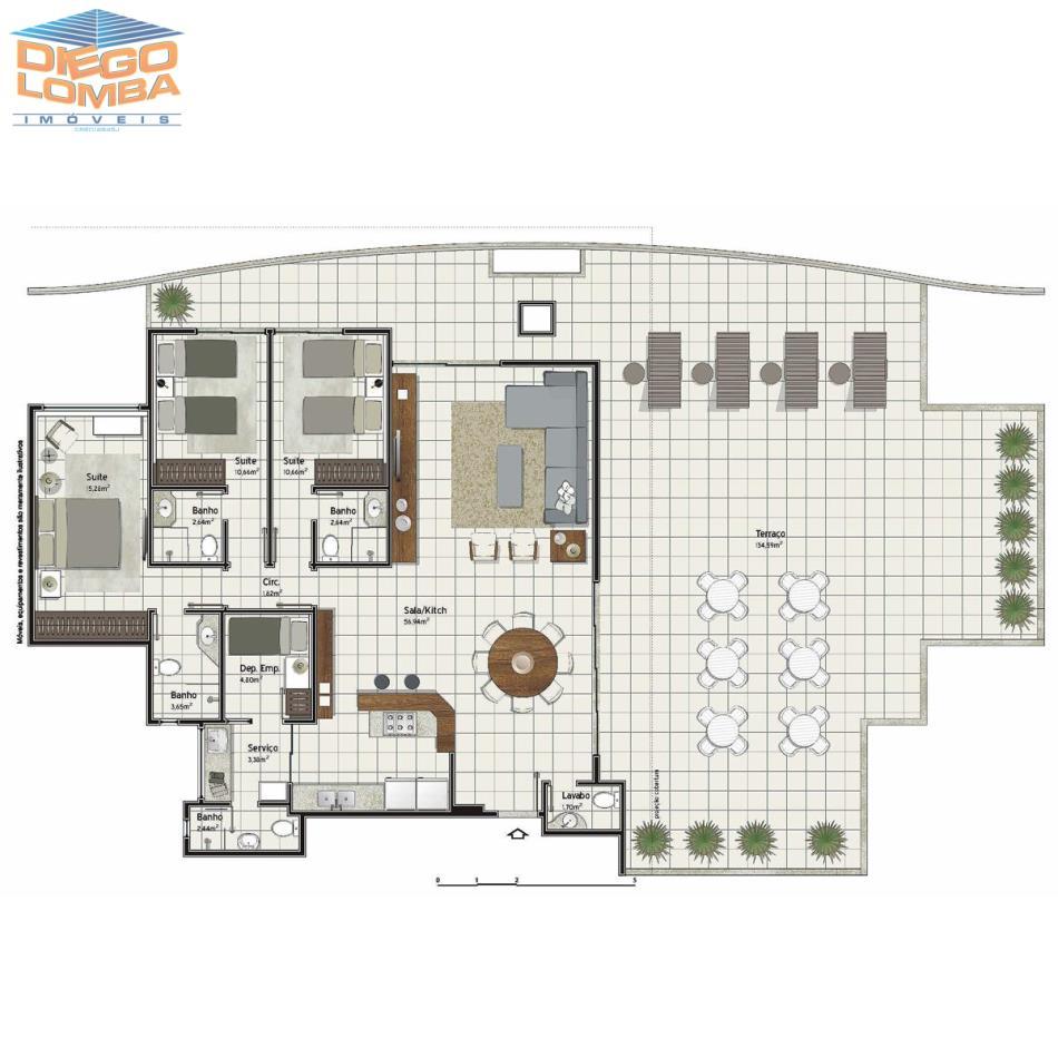 Cobertura 3 suites