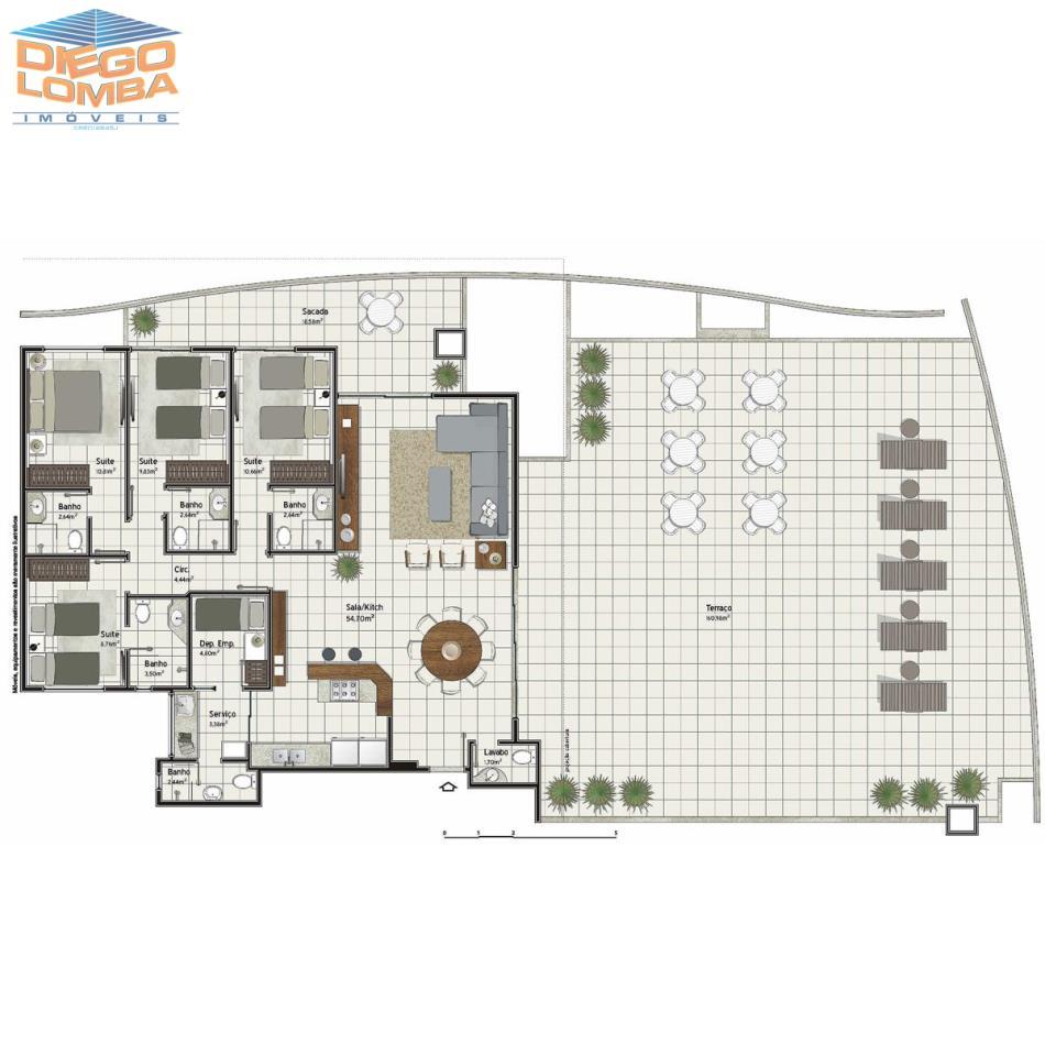 Cobertura 4 suites