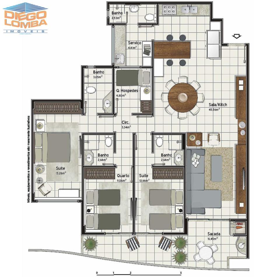Apartamento 3 suites com alteração