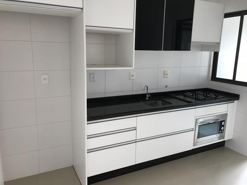 Cozinha com móveis planejados com fogão e forno embutidos