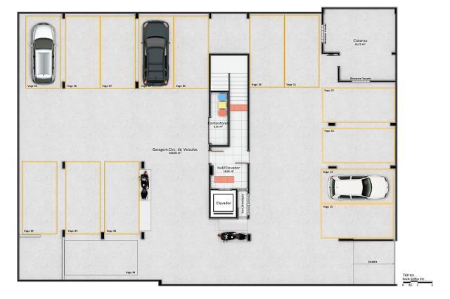 Garagens - Subsolo. Registro de Incorporação 52.269