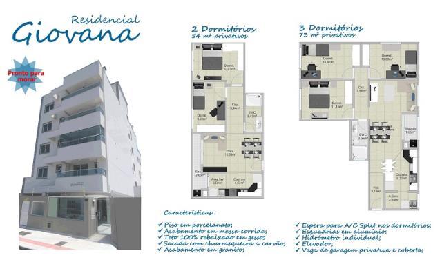 Apartamento - Código 742 a Venda no bairro Ponte do Imaruim na cidade de Palhoça - Condomínio Residencial Giovana