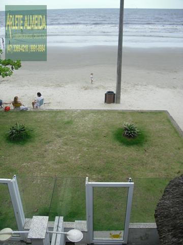 33 - vista para o mar casa beira mar perequê porto belo locação