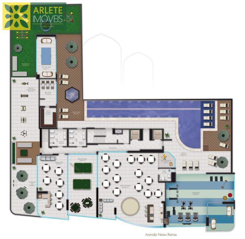 30 - planta baixa área social de apartamento a venda em itapema