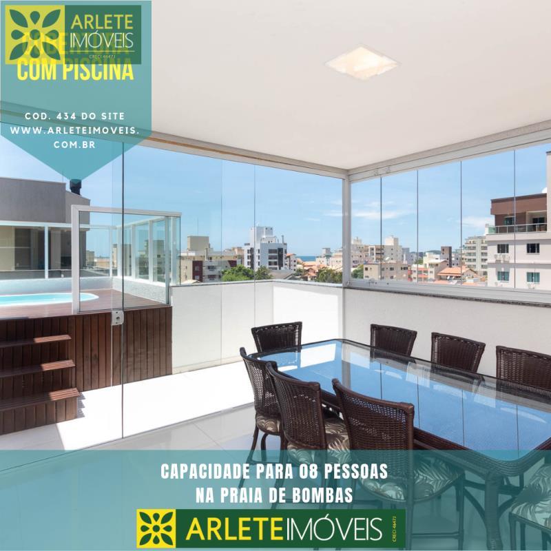 Ático/Pent-House Codigo 434 para Temporada no bairro Bombas na cidade de Bombinhas