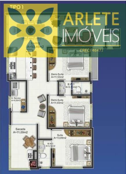 Apartamento-Codigo-2144-a-Venda-no-bairro-Perequê-na-cidade-de-Porto-Belo