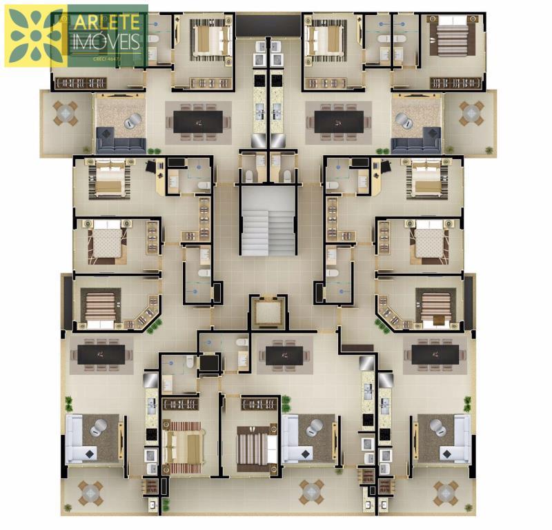 planta lateral direita apto 101 sendo 01 suíte e +02 quartos + 01 banheiro
