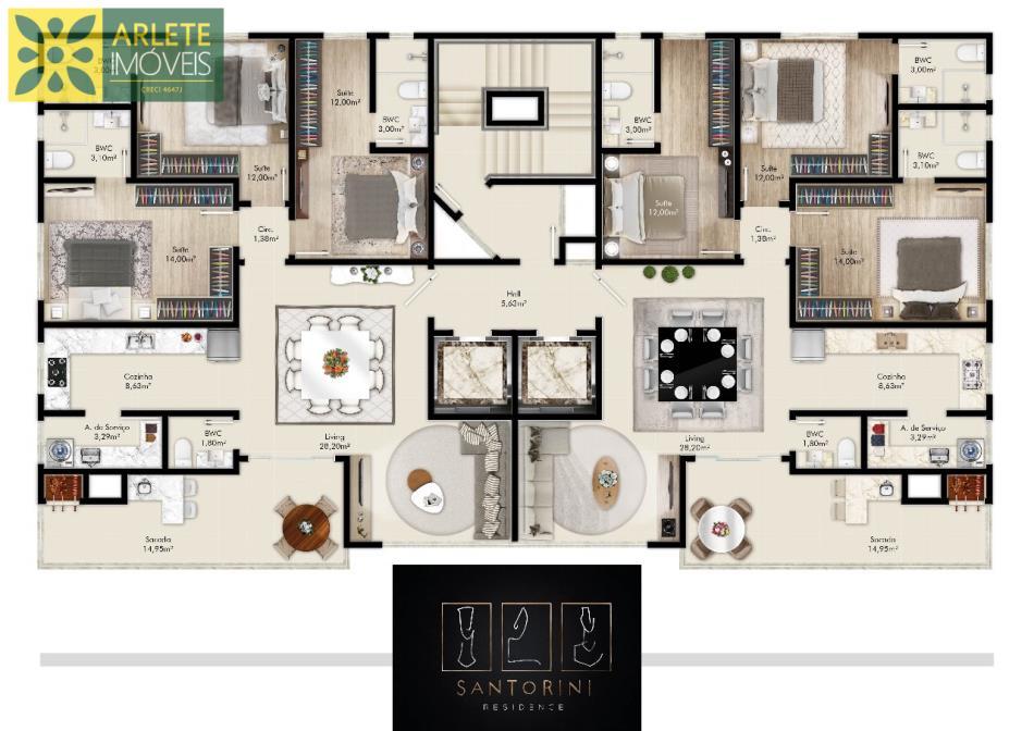 1 - planta apartamento 03 dormitórios a venda em porto belo sc