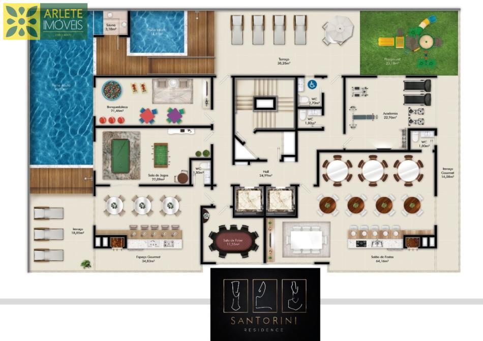 2 - área de lazer apartamento 03 dormitórios em porto belo sc