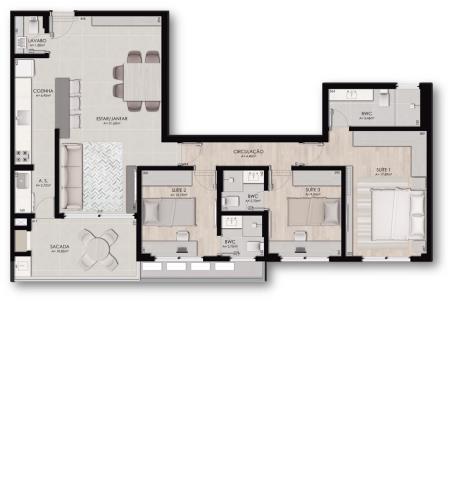 Apartamento Código 9707 para Venda no bairro Jurerê na cidade de Florianópolis