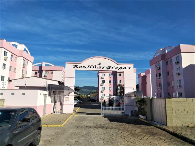 Apartamento Código 4459 a Venda no bairro Aririu na cidade de Palhoça Condominio residencial ilhas gregas