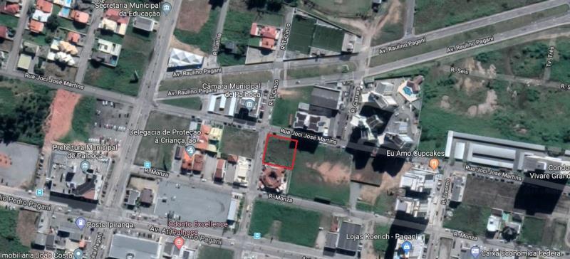 Terreno Codigo 4221a Venda no bairro Pagani na cidade de Palhoça
