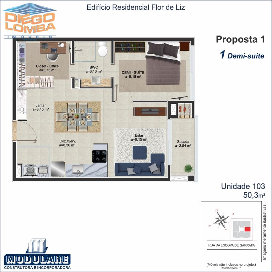 apto 103 Duplex - Proposta 1