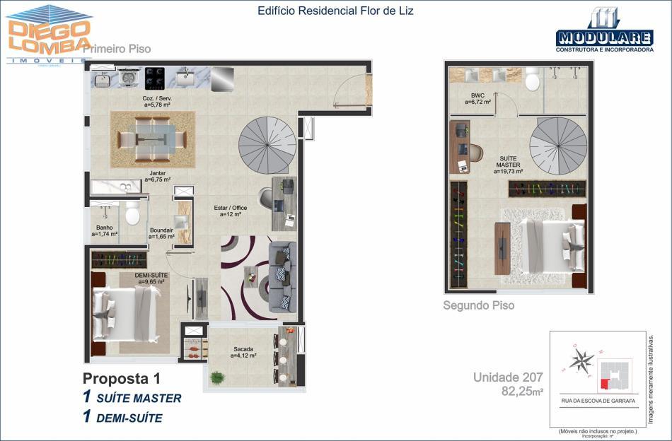 Duplex 207  - Proposta 1