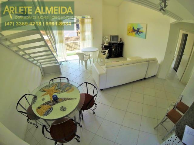 2 - sala de estar e cozinha apartamento aluguel porto belo