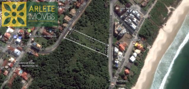 2 - Vista aérea de terreno à venda em Quatro Ilhas/Bombinhas/SC