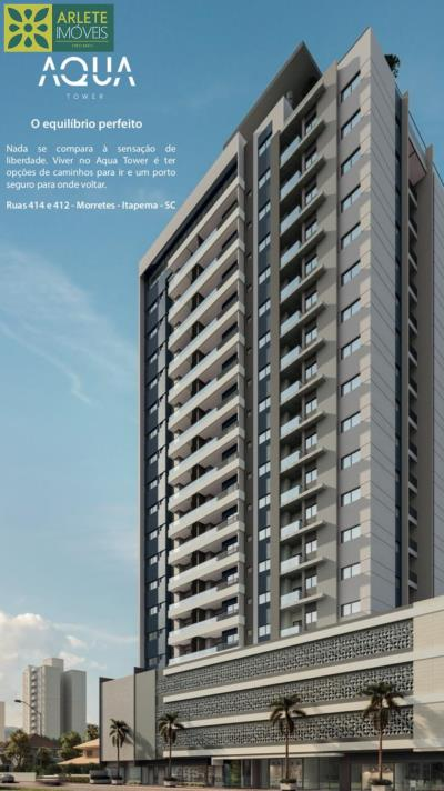 1 - vista fachada do AQUA TOWER imóveis a venda Itapema