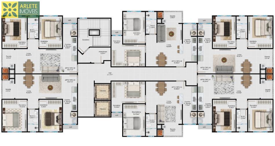2 - planta dos apartamentos á venda itapema