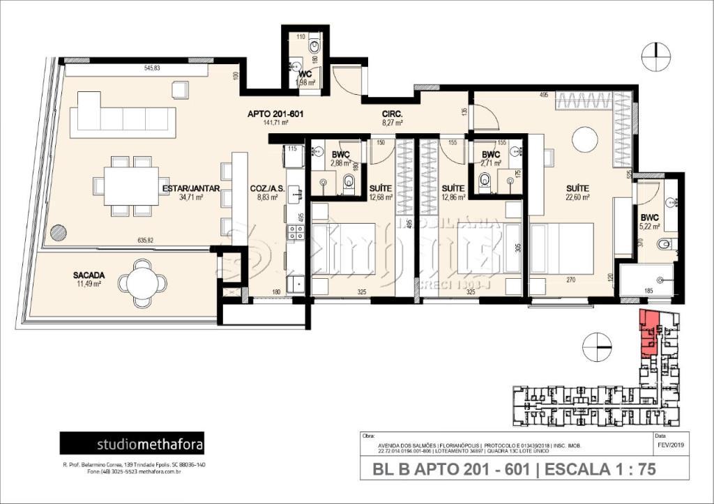 Apartamento Código 10580 para Venda no bairro Jurerê Internacional na cidade de Florianópolis