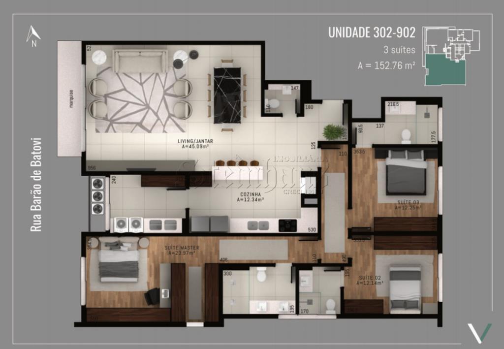Apartamento Código 10661 para Venda no bairro Centro na cidade de Florianópolis